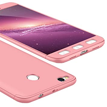 size 40 ac139 7f212 WindCase Redmi 4X Case, 360° Full Body Coverage Protection Hard PC 3 in 1  Detachable Protective Case Cover for Xiaomi Redmi 4X Rose Gold + Tempered  ...