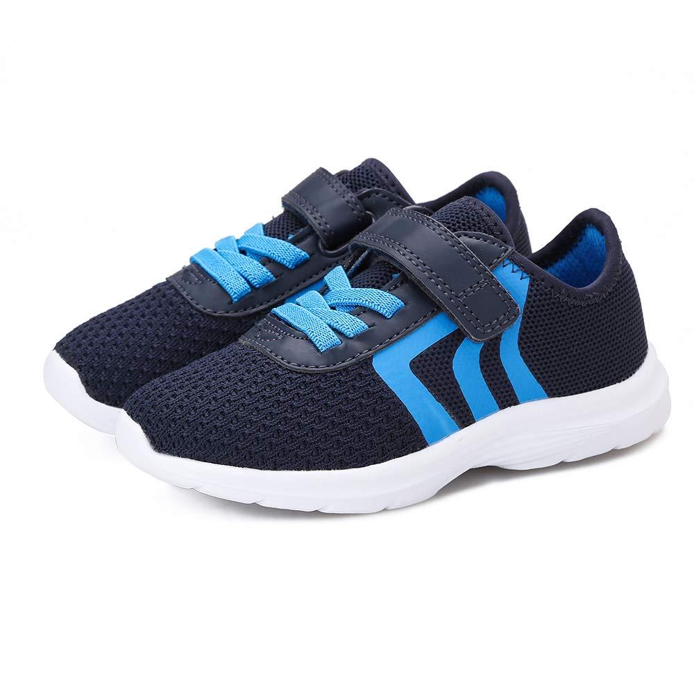 KANCOOLEST Kids Breathable Hook /& Loop Sneakers Slip on Lightweigh Casual Athletic Walking Running Shoes for Boys Girls Toddler