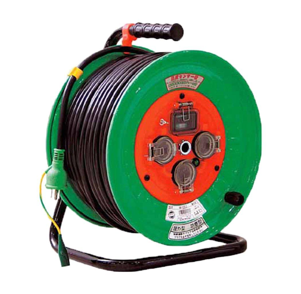 日動 防雨型漏電遮断器付電工ドラム NWEB53 B002UIYXGW