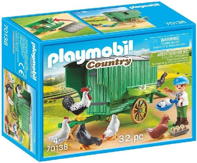 PLAYMOBIL Country Gallinero, Color carbón (70138)