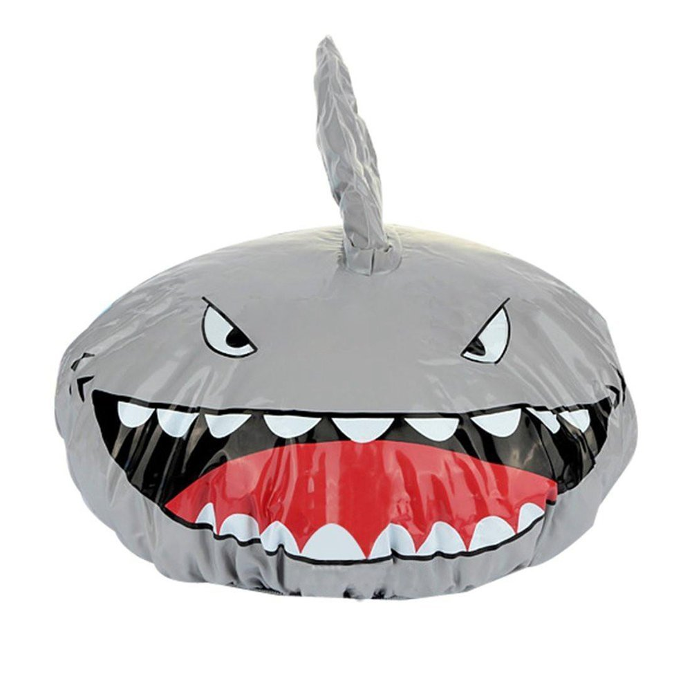 SODIAL(R) Novelty Design Animal Waterproof Shower Cap Bath Dry Hair Cover Protector Hat gray 107151
