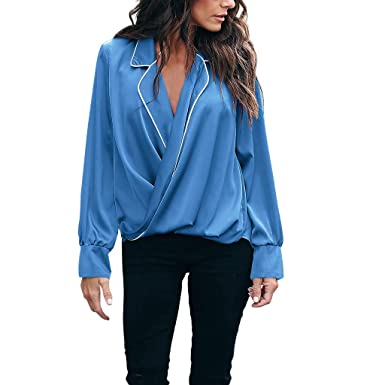 0796533f Hemlock Women Valentines T Shirt Heart Print Blouse Long Sleeve Shirt V Neck  Pullover Ladies Fashion