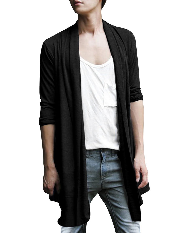 Allegra K Men Shawl Collar High-Low Hem Long Cardigan at Amazon Men's  Clothing store: - Allegra K Men Shawl Collar High-Low Hem Long Cardigan At Amazon