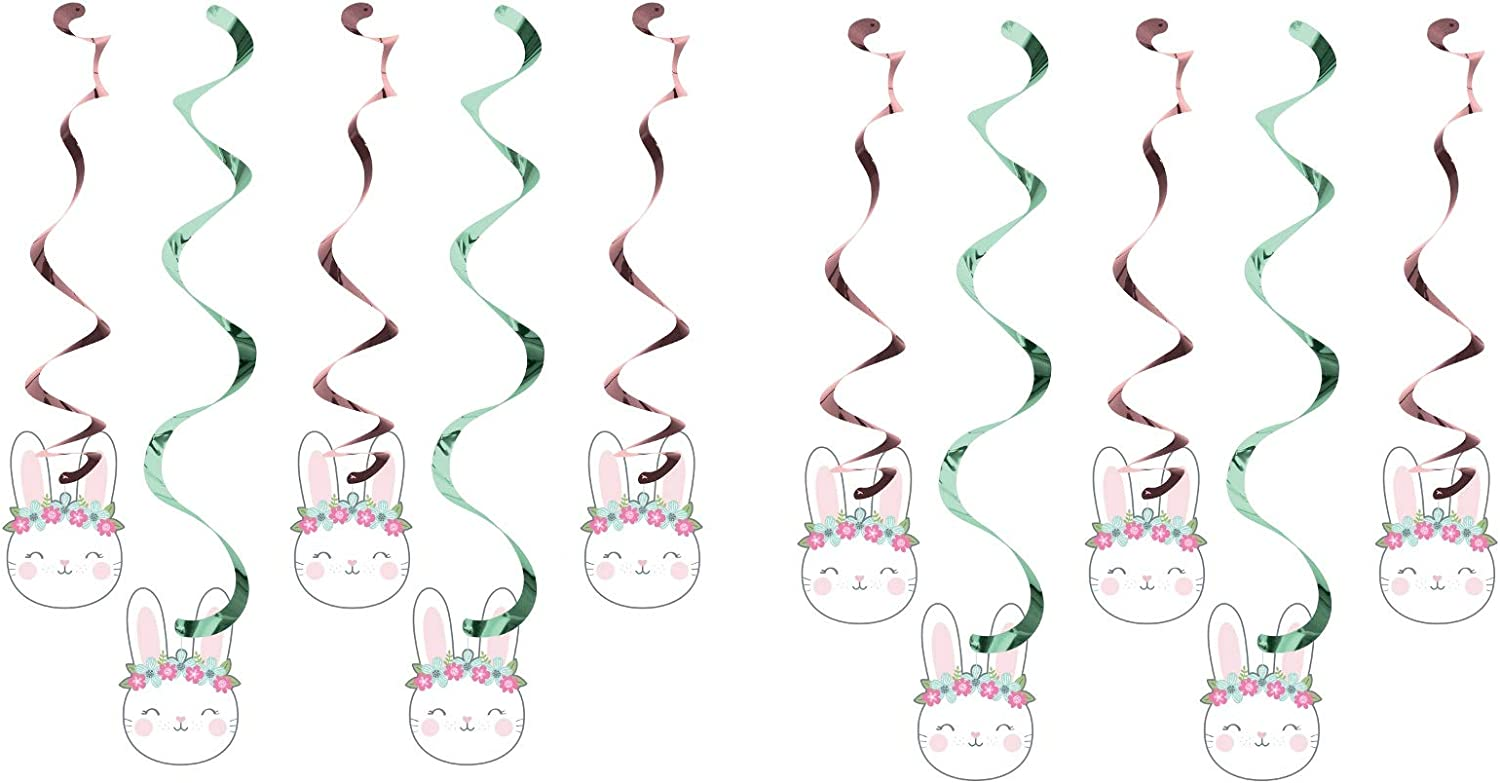 Plastic TABLECOVER 54 X 102 Birthday Bunny Party 2 Pack Bundle Saver
