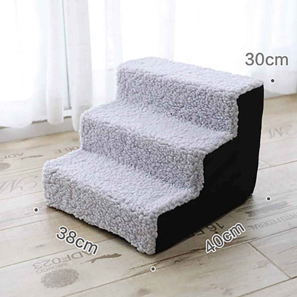 3 Pasos Mascota Escaleras De Mascotas Esponja Ligero Antideslizante Escalera De Cama Para Mascotas Sofá Cama Escalera Respirable Para Gatos Los Perros Con-negro 38x40x30cm(15x16x12inch): Amazon.es: Bricolaje y herramientas