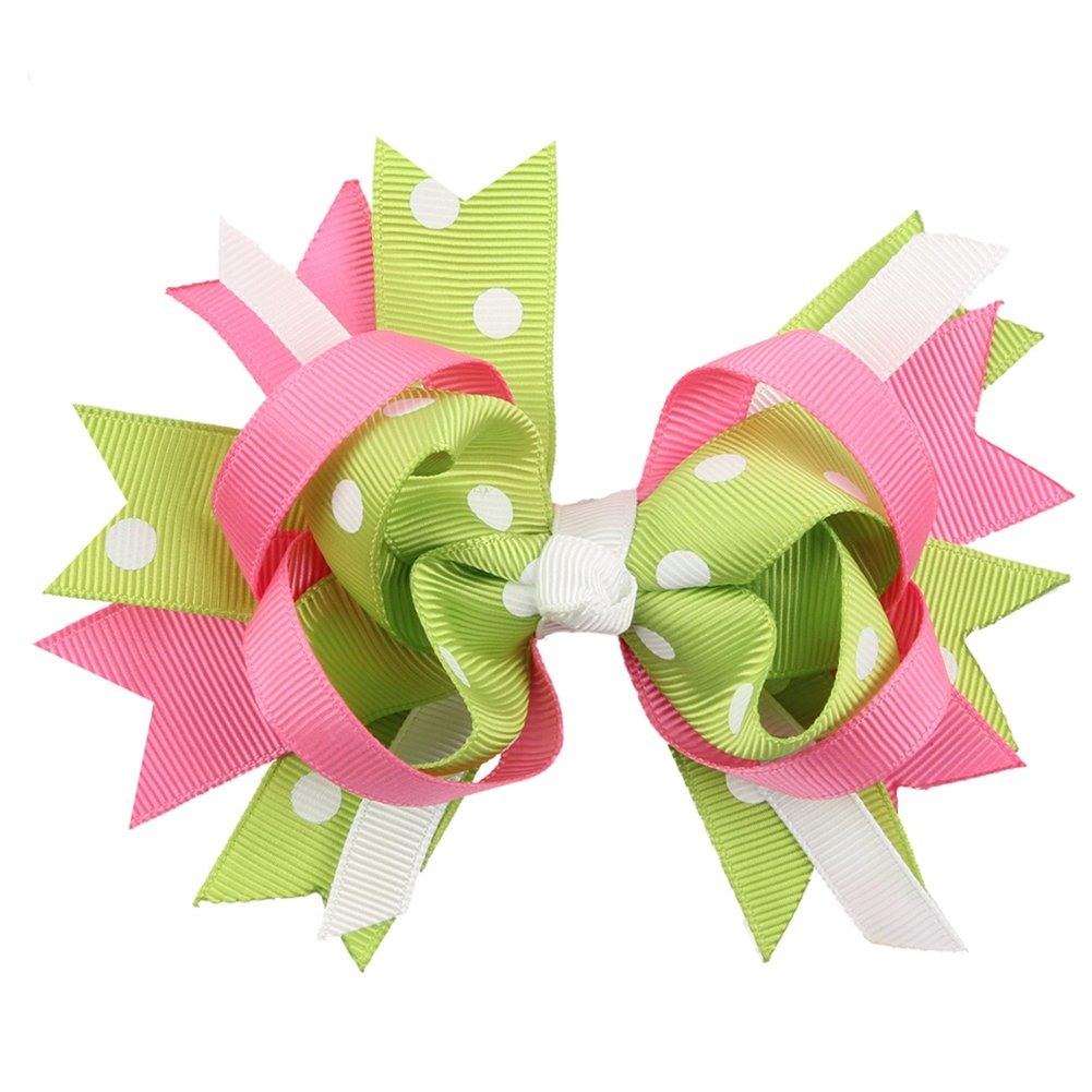 Funie 1Pc Baby Kid Girls Lovely Bow Bowknot Hair Clip Barrette Hair Accessory Gift (Blue)