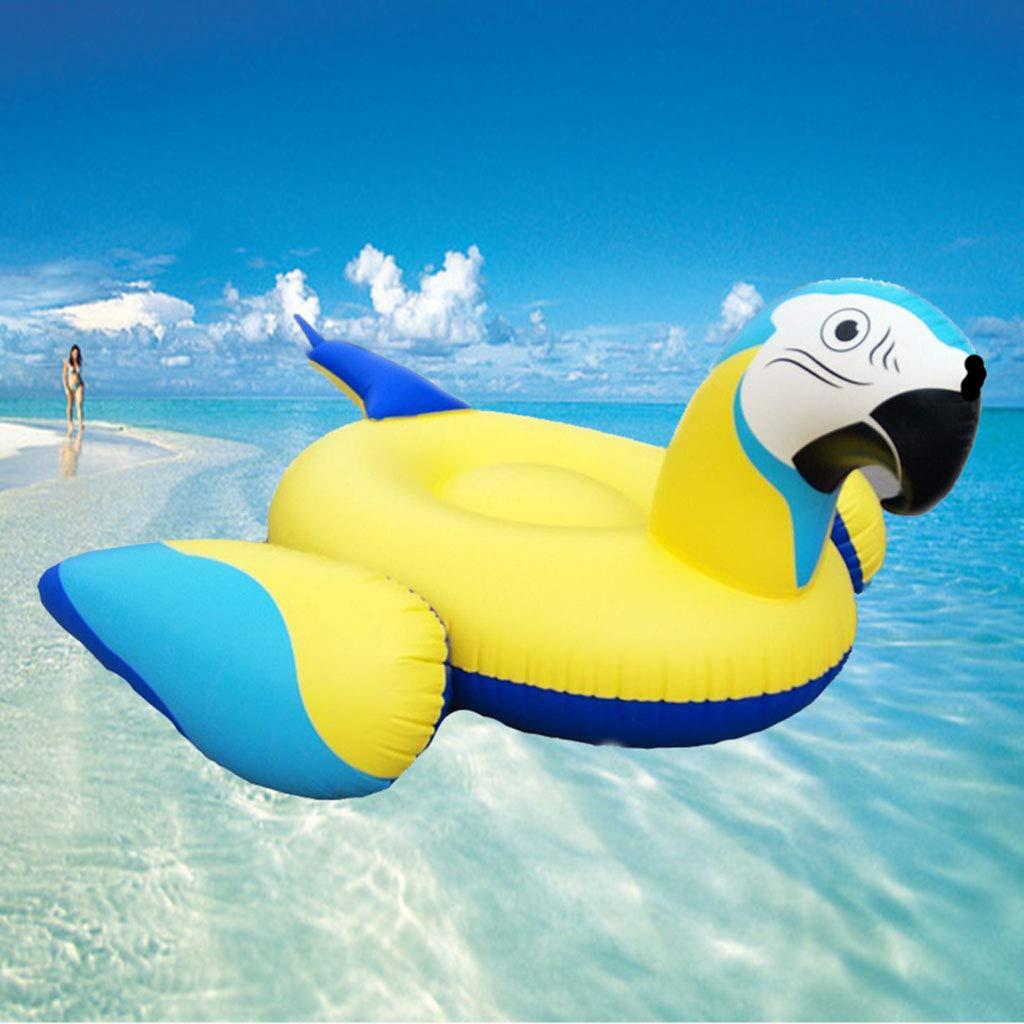 jaune  LXJ-LD Modèle de Perroquet Gonflable Ride-ons Piscine rafts-Grown-up Jouets enfants'nager flotteurs pour Plage, côté Eau