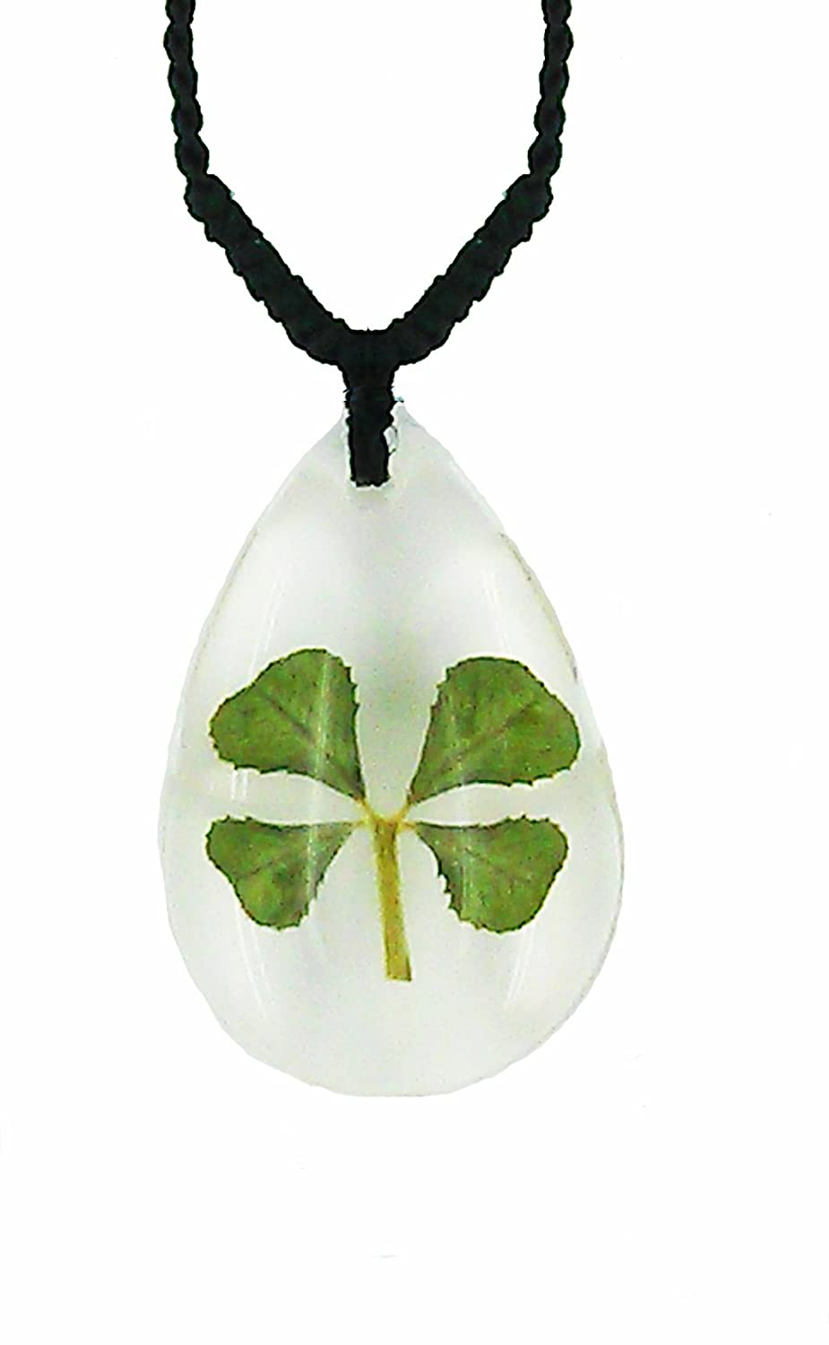 with real clear good clover lucky four pendant guarantee dp gift luck jewelry box leaf com celtic necklace amazon