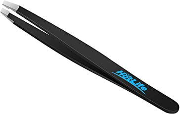 HotLife Professional Slant Tip Tweezers Best for Unwanted Hair & Eyebrow & Beard Removal, Stainless Steel Precision Tweezers for Your Daily Beauty