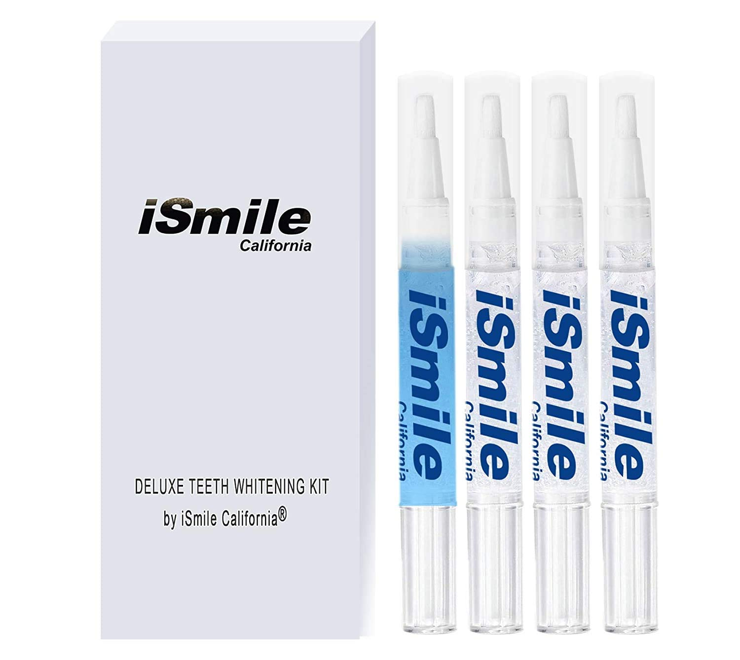 iSmile Gel Refill Kit - (4 Pack) Teeth Whitening Pen - 35% Carbamide Peroxide (x3) and Teeth Desensitizing Pens (x1) - for Sensitive Teeth - Tooth Whitener - by iSmile California