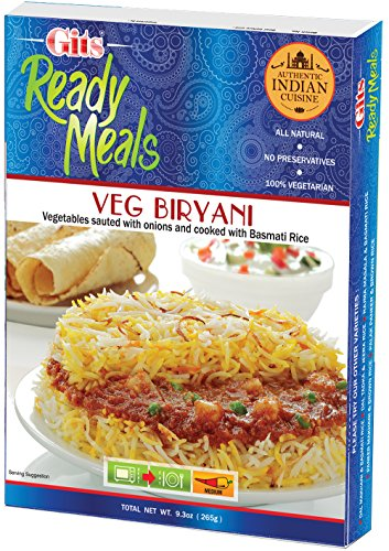 Vegetable (Vegetarian) Biryani by Gits (Indian Ready Meal - Vegetable Curry with Rice) (Single Pack)