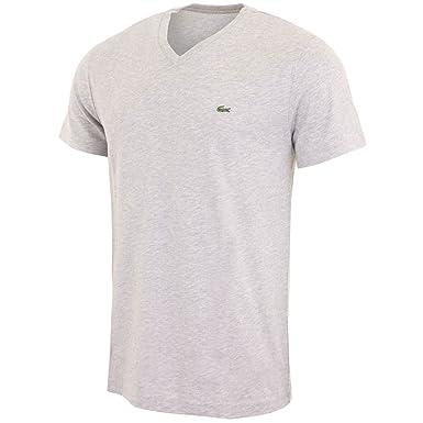 e0e93b0d63 Lacoste homme - T-shirt manches courtes gris Lacoste TH6604 - Taille  vêtements - XXL