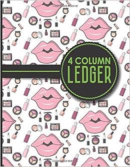 amazon com 4 column ledger accounting paper accounting ledger
