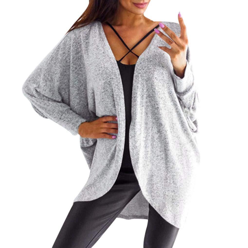 Realdo Clearance Sale!Womens Cardigan, Solid Kintted Cardigan Sweater Asymmetric Hem Long Coat Tops