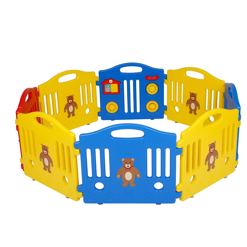 Polar Aurora Baby Playpen Kids Activity Safety Play Centre Yard Home Indoor Outdoor 8 Panel Pen