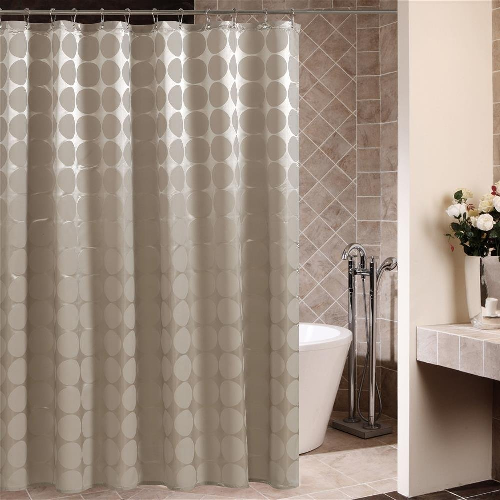 """Riverbyland Shower Curtains Round Ivory 71"""" x 79"""""""