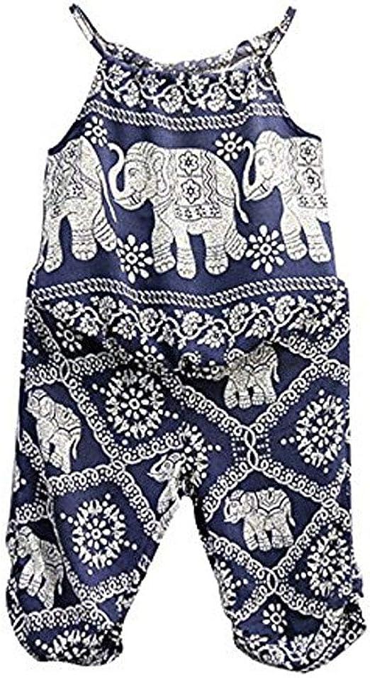 Toddler Kids Baby Girls Summer Strap Romper Jumpsuit Harem Pants Clothes Outfits
