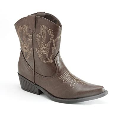 Amazon.com | SO Cowboy/Cowgirl/Western Ankle Boots (SOLYLA ...