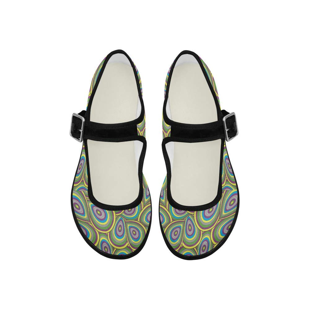 INTERESTPRINT Womens Girls Mary Jane Flats Comfortable Walking Shoes Casual Soft Flats Frogs