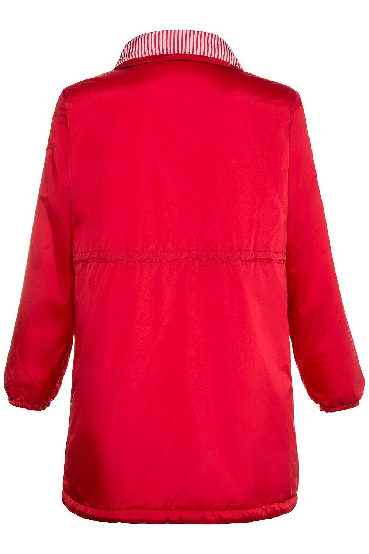 Ulla Popken Women's Plus Size Reversible Stripe Waterproof Jacket Red 12/14 714533 51 by Ulla Popken (Image #4)