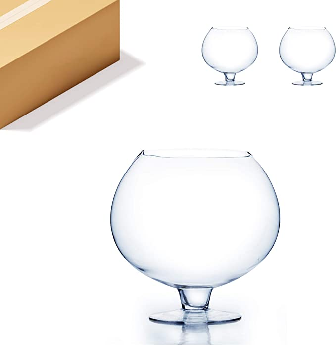 Scientific and Durable Large Water Tank 12 Inch Wine Glass Ice Bowl Vase Glow Large Air Airculation Suitable for Men and Women