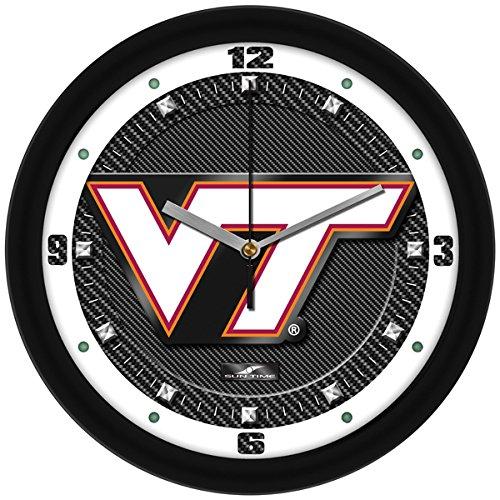 SunTime NCAA Virginia Tech Hokies Textured Carbon Fiber Wall Clock ()