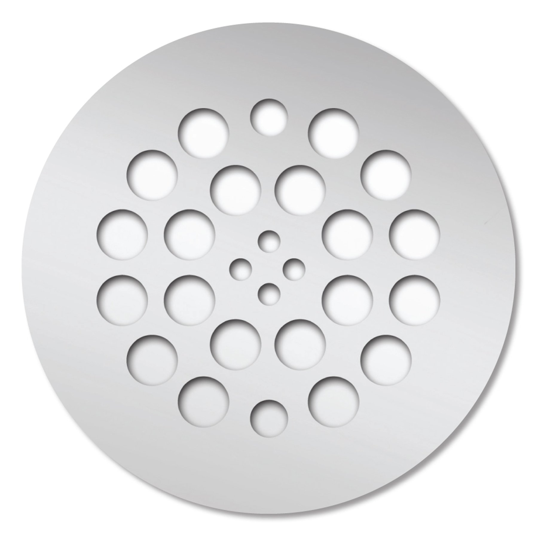 Tile Redi USA DP-RD-PC Redi Drain with Polished Chrome Round Drain with Plate