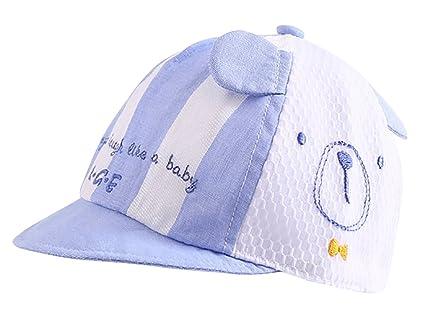 Liangguaner - Cappello d Estate a Rete da Neonati Bambini Visiera Cap  Protezione da Sole 29bde6639fba
