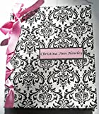 Baby Shower Album - Newborn Baby Photo Album - Children's Book - Pink, Black & White