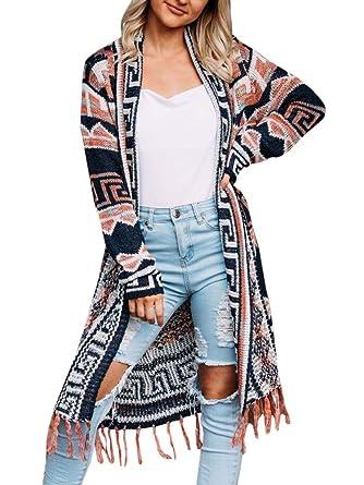 New Boho Tribal Indie Bohemian Kimono Cape Jacket Womens Cardigan Cotton Jumper