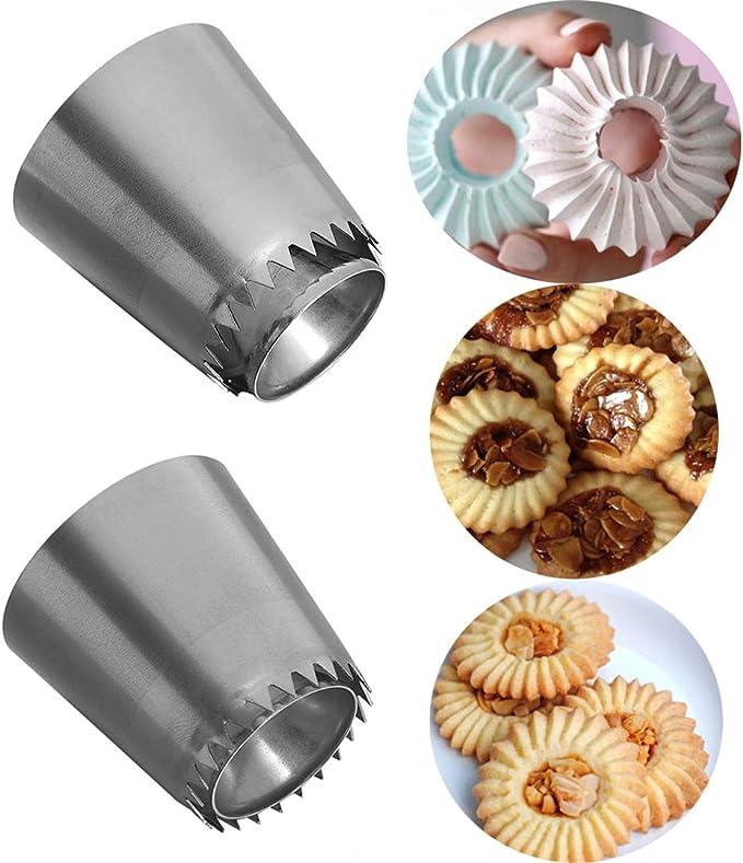 LAEMALLS 5 pezzi Decorazione Torta Pasta di Zucchero Cupcakes Biscotti e Pasticceria#1 Professionale Ugello in Acciaio Inox Bocchette Decorative Accessori per Torte