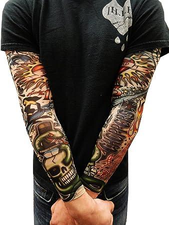 Amazon.com: Tattoo Sleeves - Vintage Rockabilly Fake Tattoo Sleeves ...