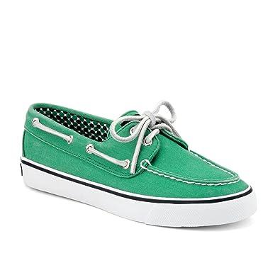 Sperry Bahama Green Canvas Bootsschuhe Segelschuhe Sneaker Damen (37,5)
