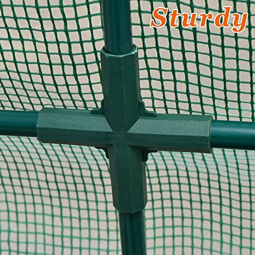 Strong Camel New Large Walk-in Wall Greenhouse 10x5x7'H w 3 Tiers/6 Shelves Gardening (Green) by Strong Camel (Image #9)