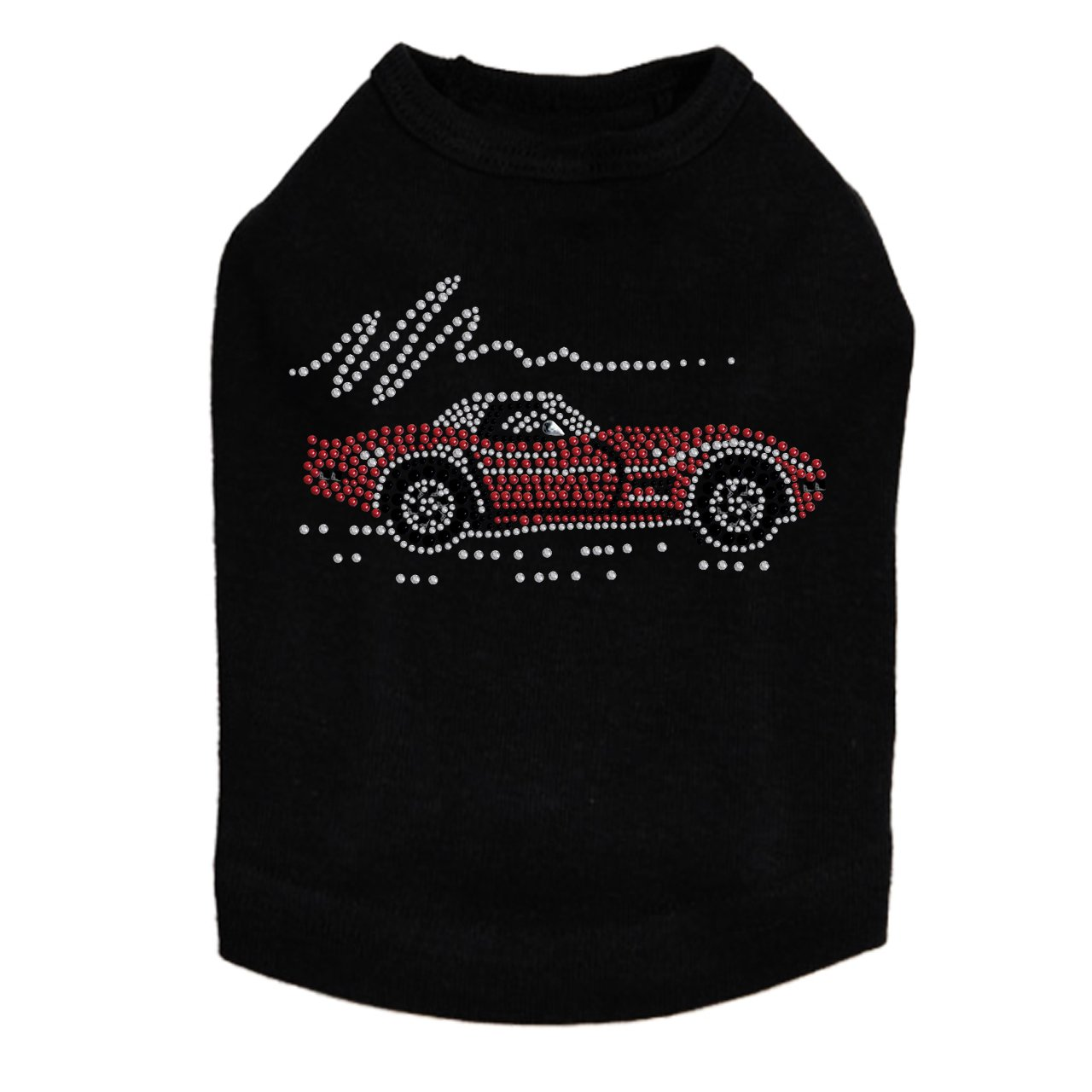 Red Corvette - Dog Tank, S Black by Dog in the Closet