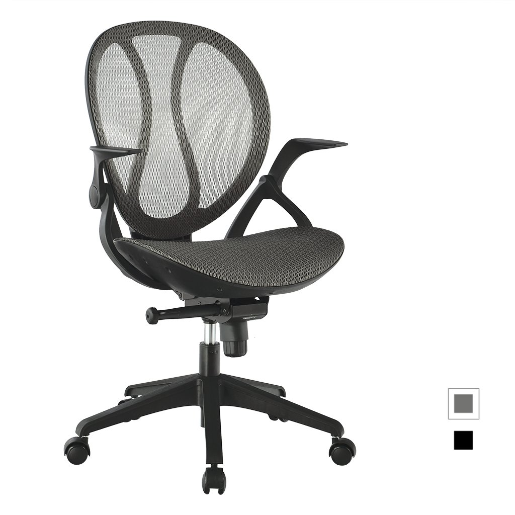 LANGRIA Mid-Back Mesh Executive Office Chair Ergonomic Adjustable Computer Chair - Cotton Padded Seat - Back Tilt