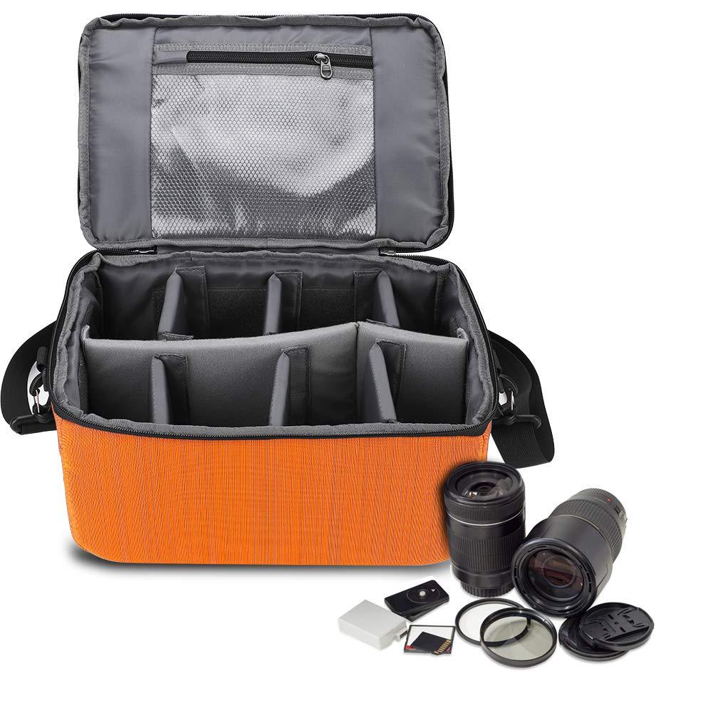 Acouto ナイロン製大型防水カメラケース挿入部品ハンドルカメラバッグ レンズケースポーチ 保護カメラバッグ B07JF57S9B
