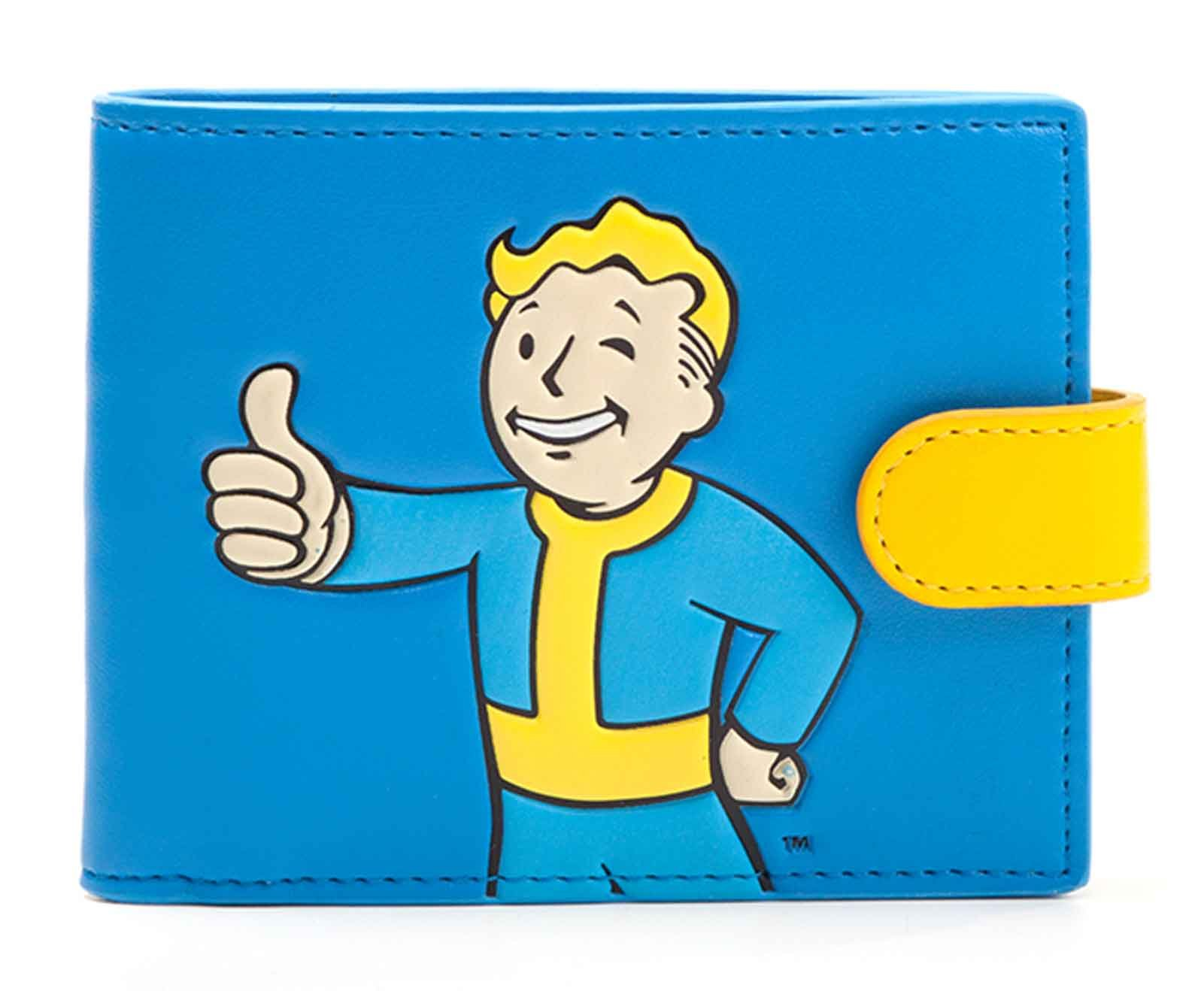 Fallout 4 Wallet Vault Boy Approves Official Xbox Ps1 Gamer Blue Bifold