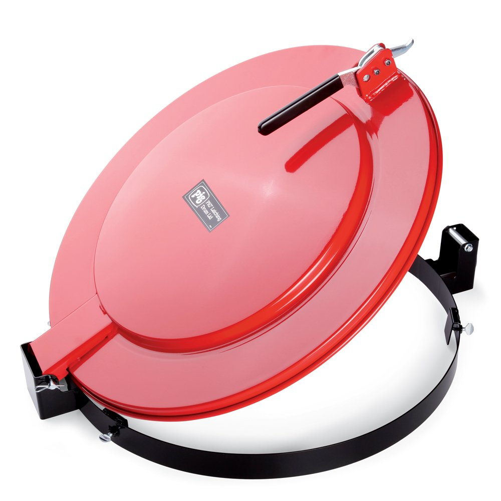 New Pig Latching Lid for Fluorescent Lamp Recycling Drum, For 23'' Diameter Fiber Drums, Bolt-Ring, 28'' L x 24'' W x 6'' H, Red, DRM1129-RD