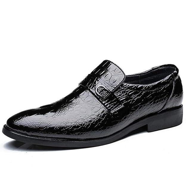 Zapatos de mocasín de Cuero con Estampado de cocodrilo de Moda para Hombre: Amazon.es: Zapatos y complementos