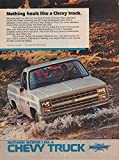 1985 CHEVROLET FULL-SIZE PICKUP with VORTEC V6 Engine ' Nothing Hauls Like a Chevy Truck. ' VINTAGE COLOR AD - USA - GREAT ORIGINAL !!