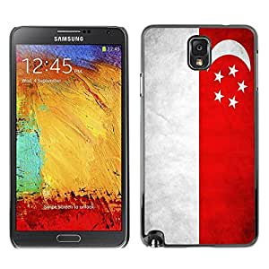 Shell-Star ( National Flag Series-Singapore ) Snap On Hard Protective Case For Samsung Galaxy Note 3 III / N9000 / N9005