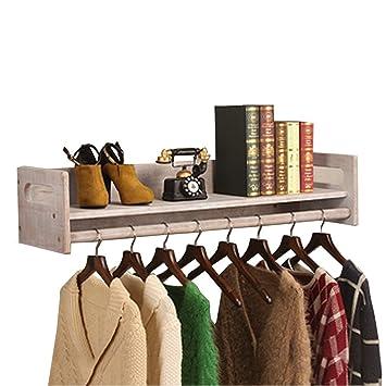 LQQ-Ganchos para abrigos Estante de madera del soporte de exhibición de la pared de la ...