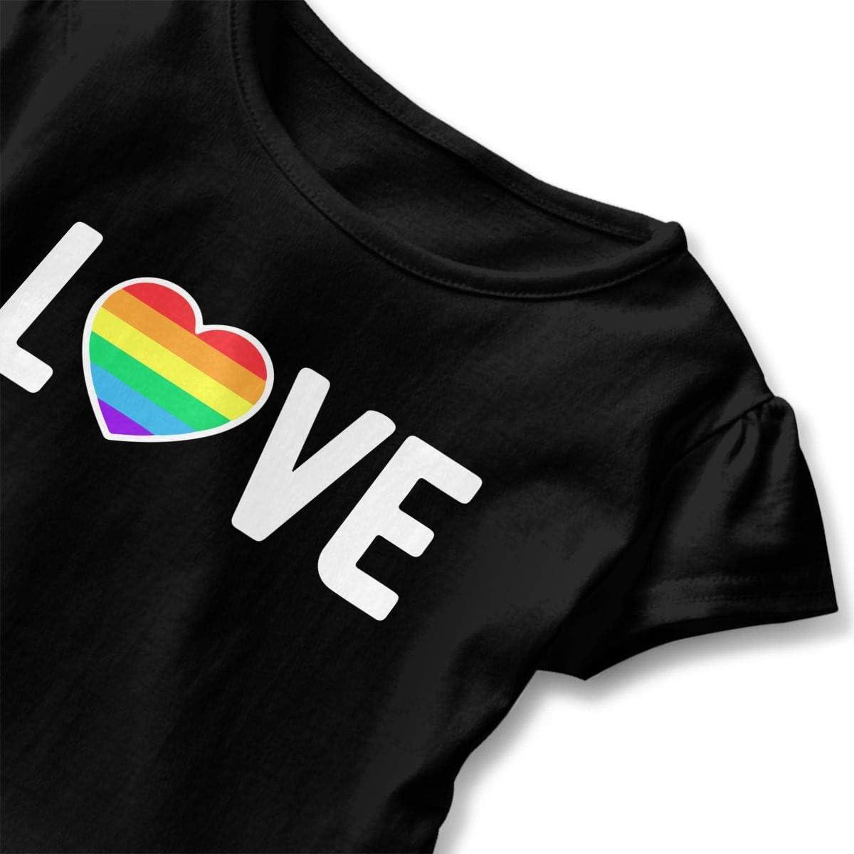 Gay Pride Love-1 Kids Children Short Sleeve Tee Help Shirt
