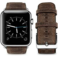Top4cus Retro Leather Replacement Band for Apple Watch (several colors)