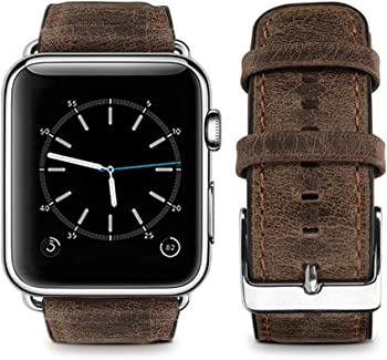 Top4cus Retro Leather Replacement Band for Apple Watch