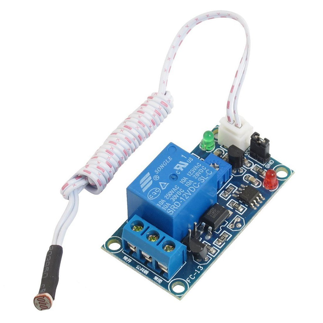 Photoelectric Switch Sensor Relay Module Toogoor Dc Economy Circuit 12v 50mmx25mm W 2 Cable Automotive