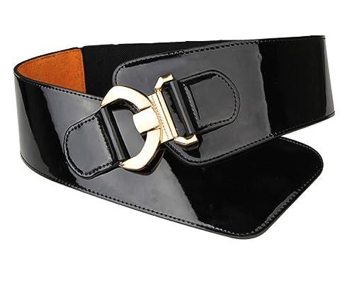 Cinturón de talle alto y ajustable para mujer, con patrón de serpiente