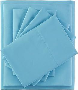 Intelligent Design Side Storage Pockets Ultra Soft Hypoallergenic Wrinkle Free Microfiber 4 Piece Sheet Set, Twin Size, Grey Dogs