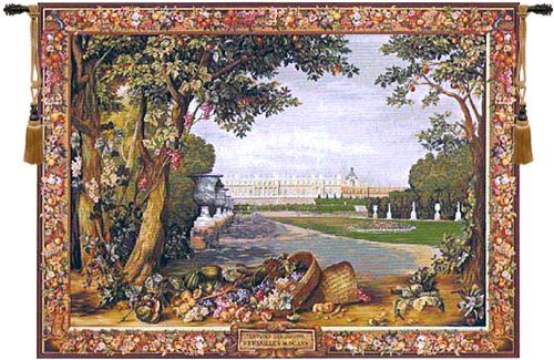 (Versailles Promenade French Classical Wall Hanging Home Decor Tapestry)
